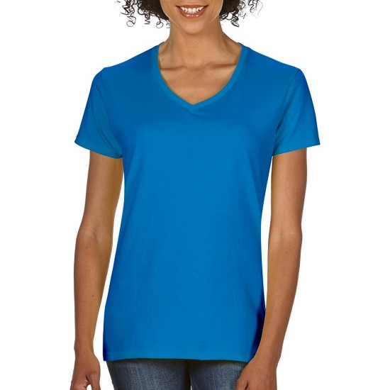 Women T-Shirt Gildan V-Neck 144.09